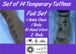 Belly Button Ankle 10 Hand stars TEMPORARY fake celebrity tattoos ...