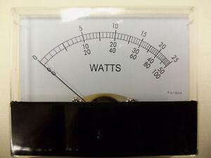 Bird-43-Thruline-30-Ua-Wattmeter-Meter-Face-Aftermarket