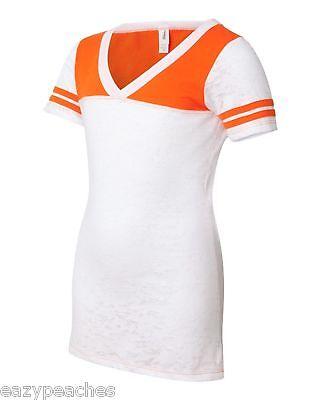 Juniors S M L XL Sport Burnout V-neck Baseball, Football, Dance, Cheer T-Shirt