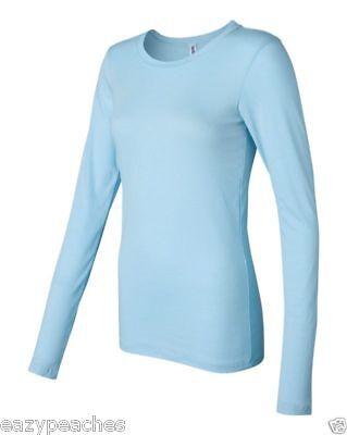 Bella Ladies Sophie Tee Sheer Long Sleeve T-Shirt Womens Top S M L XL 2XL 8751