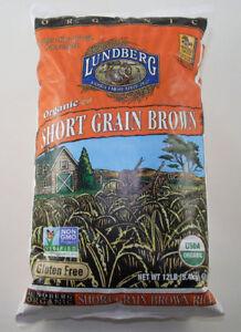 12 Lbs Lundberg ORGANIC SHORT GRAIN BROWN RICE Non-GMO