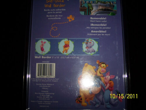 NIP Disney Self Stick Removable Wall Border Winnie The Pooh #DS026251