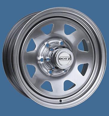 4x NEUE  Dotz Dakar silver 7.0 x 16 Zoll Felgen LK 6 / 139.7 ET 36 mm