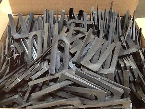 1,000 pcs Black Tapered Horse Shoe Shims Wedges