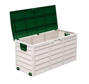 Garden-Storage-Box-Chest-Cushion-Box-Plastic-Wheels