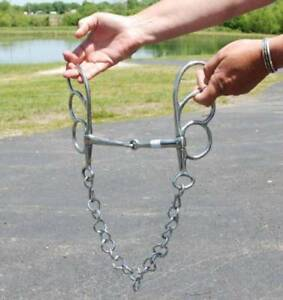 """Horse size 5"""" butterfly bit for driving and riding stainless steel"""
