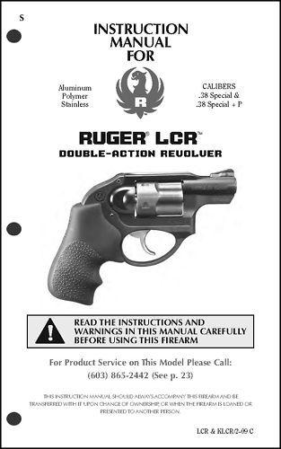 Ruger Pistol Rifle Shotgun Owner Instruction Manual #1