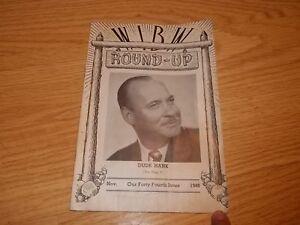 1948 WIBM Round-Up Magazine Roy Dude Hank Carlson