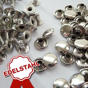 100 Stück Hohlnieten 6 x 6 mm Silber  ROSTFREI C43