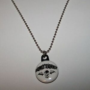 Avenged-Sevenfold-A7X-Button-Charm-Necklace-New