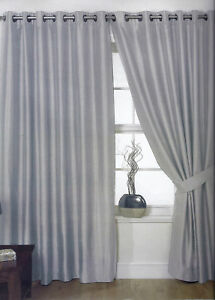 Silver-Eyelet-Faux-Silk-Lined-Curtains