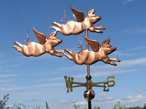 COPPER-034-THREE-PIGS-034-WEATHERVANE-MADE-IN-USA-334