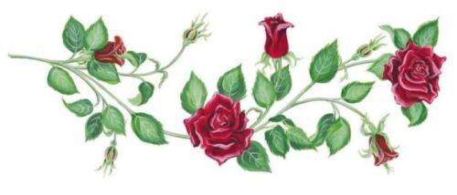 Tatouage Red Rose Vines--Low Shipping