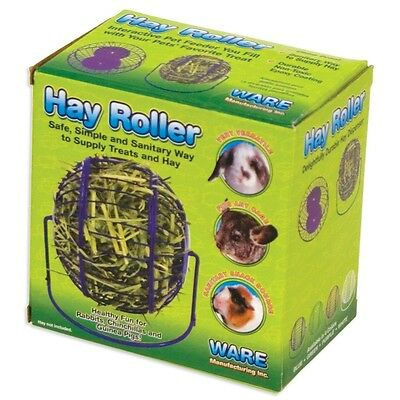 CHEW PROOF HAY ROLLER FEEDER AND TOY FOR RABBIT GUINEA PIG FERRET FEED FOOD RACK
