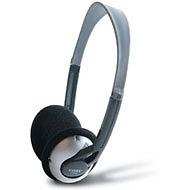 Coby CVH42 Lightweight Headphones DEEP BASS Silver