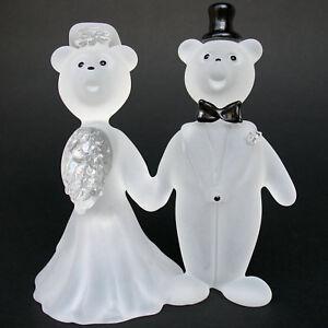 Image Is Loading Teddy Bear Bride Groom Figurine Wedding Cake Topper
