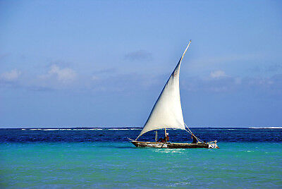 Limited Edition Original Print: African Sailing Boat