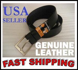 BRAND-NEW-Men-039-s-Black-LEATHER-Belt-GENUINE-LEATHER-All-sizes