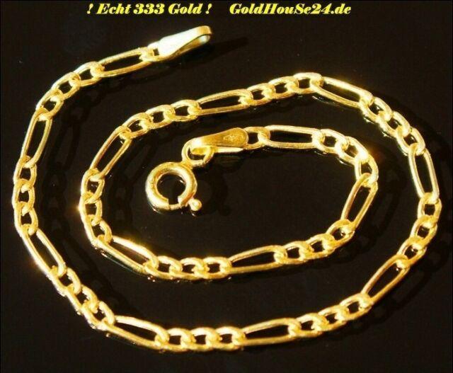 Gold Neuware 333 Echt Gold Armband schönes edles 8 Karat Figaro Goldarmband
