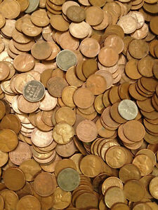 50x-Lincoln-Wheat-Penny-Cent-P-D-S-Mint-1909-1958-Roll-Cent-VG-BU-US-Coin-1c