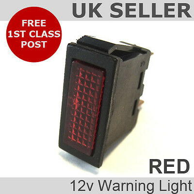 Red 12v Rectangular Indicator/Warning Light