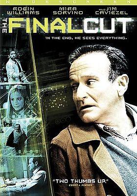 The Final Cut DVD Robin Williams Mira Sorvino Caviezel Science Fiction Thriller