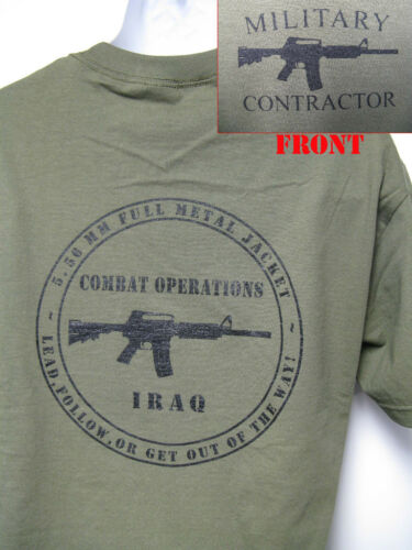 PRIVATE MILITARY CONTRACTOR T-SHIRT// IRAQ T-SHIRT