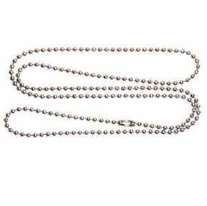 25-New-Aluminum-18-inch-BALL-CHAIN-Necklace-2-4mm-Bead-3-size-Chains-lot