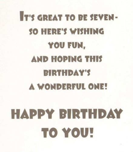girls 7th happy birthday card age 7 today 8 x cards to choose from!