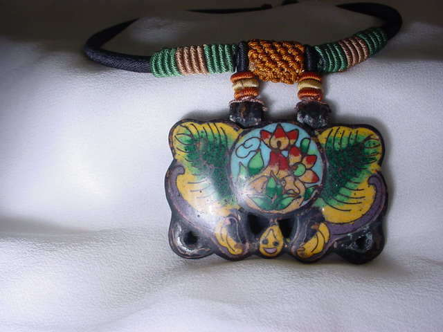Chinese Export Cloissonne  Necklace