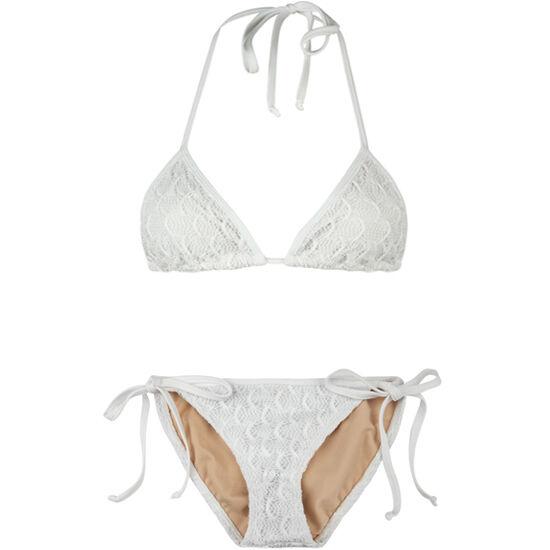 Poko Pano White Lace Swimsuit Size Large Brand New
