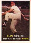 1957 Topps Clem Labine Brooklyn Dodgers #53 Baseball Card