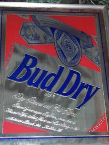 Bud Dry Beer Mirror Sign Ebay