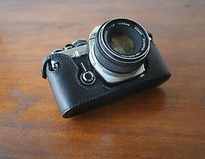 Zhou Black Half Case for Olympus OM OM2 OM3 SLR Cameras