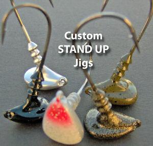 Custom-Stand-Up-Jigs-1-4-3-8-1-2-oz-Qty-4-per-pack-Bass-fishing-jigs