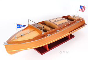 chris craft runabout wood model 24 classic mahogany