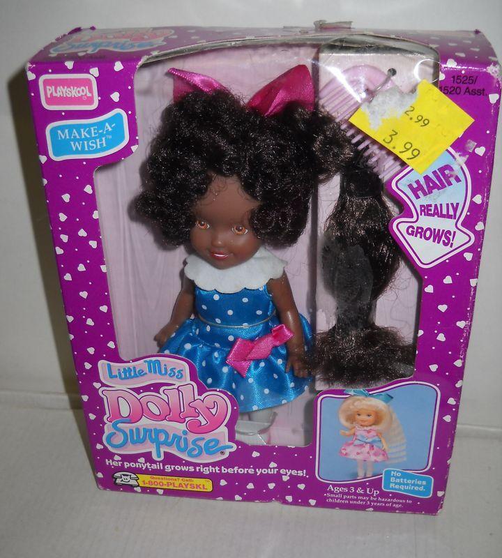 Nrfb Playskool 6  Little Miss Dolly Sorpresa Make A Wish Afroamericana