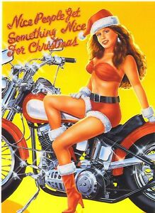 Motorcycle Christmas Greeting Cards with Harley Davidson ...