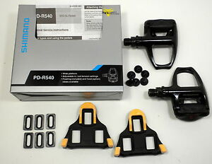 2012-Shimano-PD-R540-Black-Road-Bike-Pedals-SPD-SL-Clipless-pedals-with-cleats