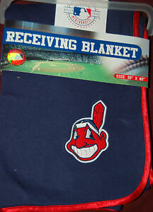 MLB-Cleveland-Indians-Baby-Receiving-Blanket