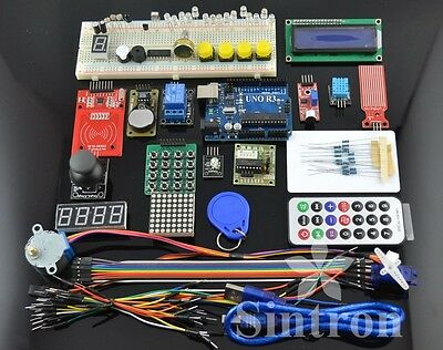 [Sintron] RFID Master Kit with Motor Relay LCD Servo for Arduino AVR Starter IDE