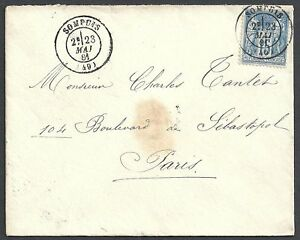 France-1881-15c-on-cover-Sompuis-to-Paris