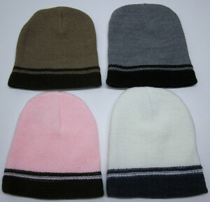New-Ladies-Deluxe-Knit-Beanie-Ski-Hat-Made-in-USA-High-Quality-Washable