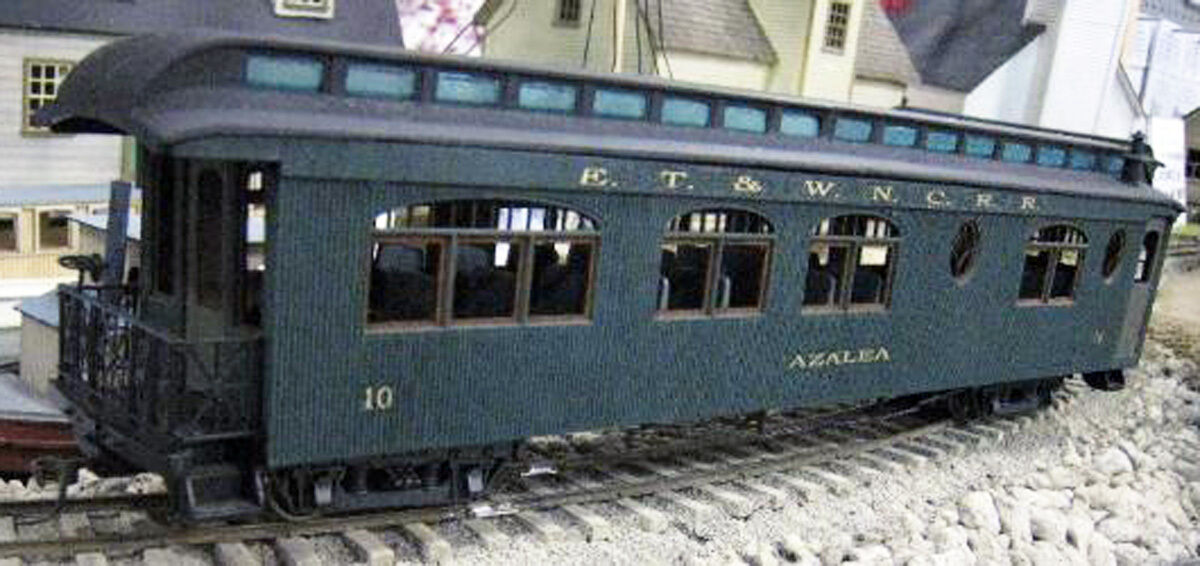 ET&WNC 46 FT PARLOR CAR AZALEA Railroad On30 Kit-Basher Unptd Laser Kit DFT10L