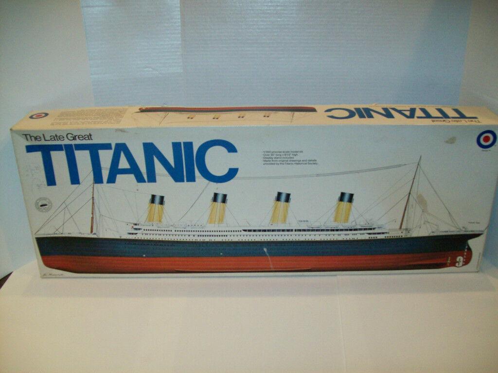 TITANIC OCEAN LINER STEAM SHIP BY ENTEX 1 350 SCALE 30'' VINTAGE RARE
