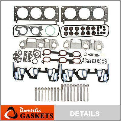 Fits 96-05 Chevrolet Pontiac Oldsmobile 3.1L 3.4L Head Gasket Head Bolt Set Kit