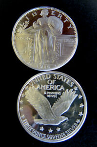 1-oz-Silver-Bullion-Eagle-Liberty-Round-One-Troy-Ounce-999-pure-fine-mint-cond