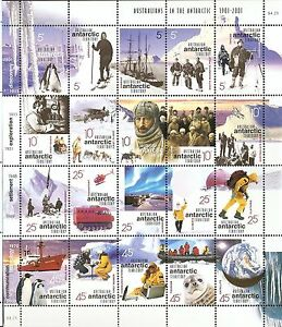 1901-2001-AAT-Australian-Antarctic-Territory-Sheetlet-of-20-Stamps-MNH