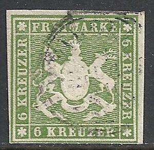Württemberg 1859 MI 13 CANC VF