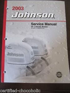 Details about 2003 Johnson Factory Service Manual 55 hp WRL Commerical -  FREE SHIPPING